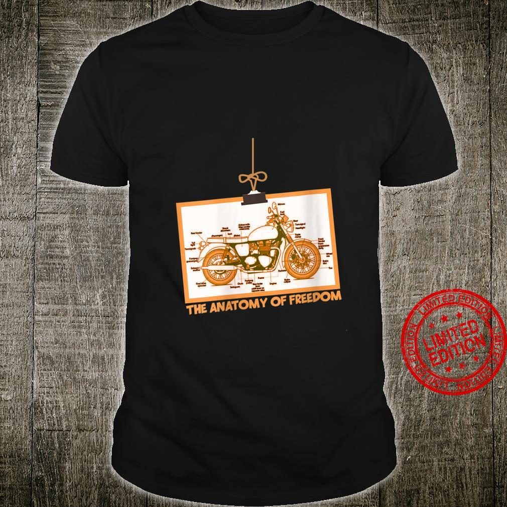 Womens Motorcycle The Anatomy Of Freedom Shirt