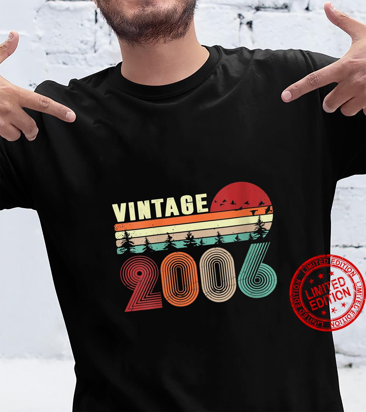 Womens Vintage 2006 Cool 15 Years Old Boys and Girls 15th Birthday Shirt