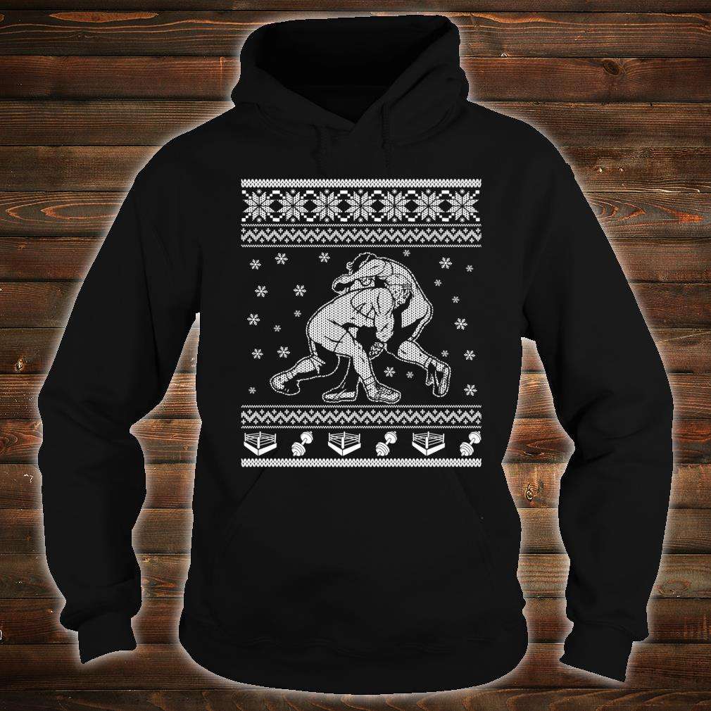 Wrestling Ugly Christmas Style Design Shirt hoodie