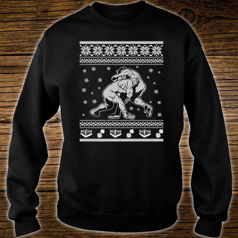 Wrestling Ugly Christmas Style Design Shirt sweater