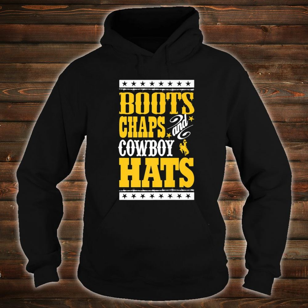Wyoming Cowboys Boots Chaps And Cowboy Hats Student Alumni Shirt hoodie