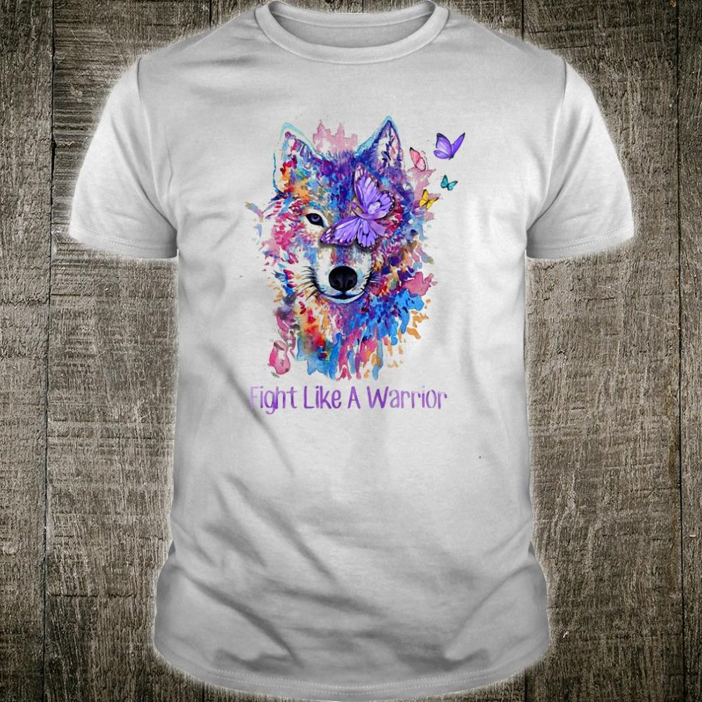 the wolf fight like a warrio shirt